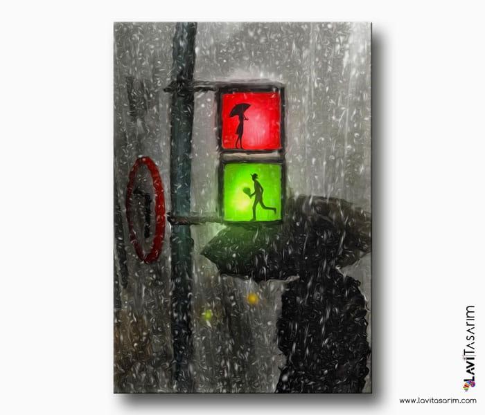 yağmur kanvas tablo
