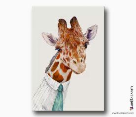 zürafa kanvas tablo