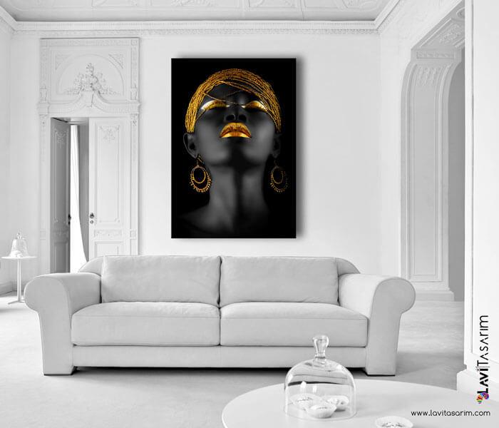 afrikalı kadın kanvas tablo , afrikalı kadın tablo satın al , lavi tasarım , lavi tasarim
